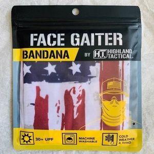 H.T. Gaiter Bandana Seamless Protector US Flag UPF